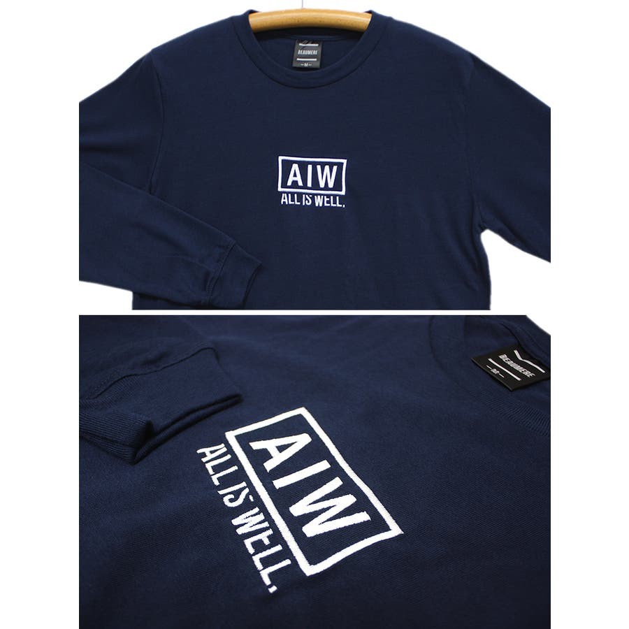 ALL IS WELL ボックス 刺繍ロゴ ストリート ロングスリーブ Tシャツ ロンT レディース OK 8