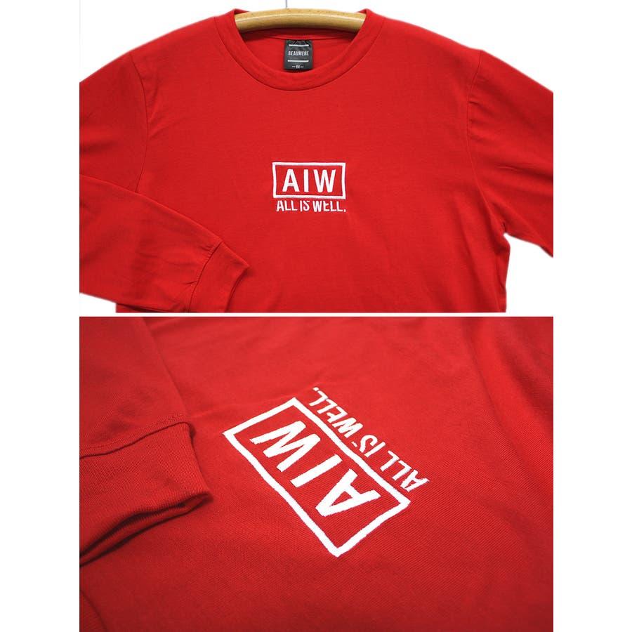 ALL IS WELL ボックス 刺繍ロゴ ストリート ロングスリーブ Tシャツ ロンT レディース OK 9