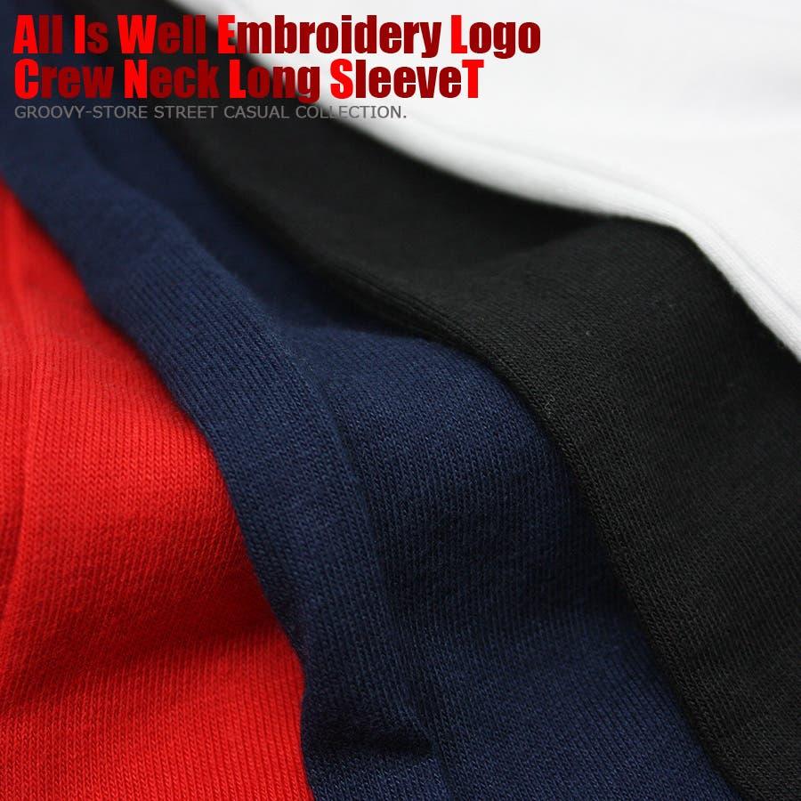 ALL IS WELL ボックス 刺繍ロゴ ストリート ロングスリーブ Tシャツ ロンT レディース OK 10