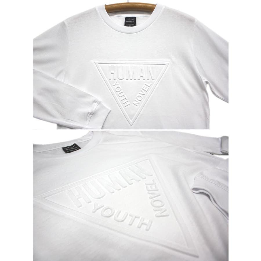HUMAN エンボス加工 ロゴ ストリート ロングスリーブ Tシャツ ロンT レディース OK 6