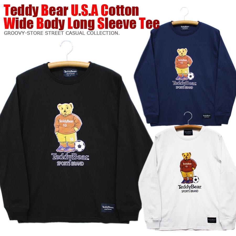 フットボール TEDDY BEAR USA テディベア コットン ロングスリーブT シャツ ロンT レディース OK 1