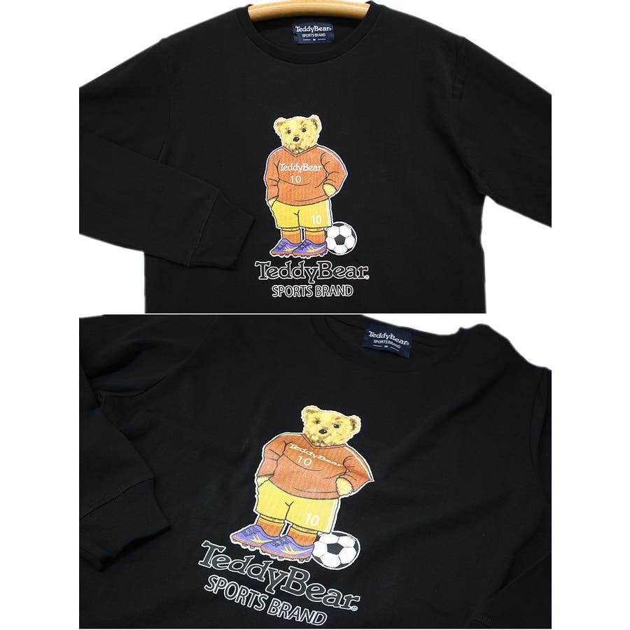 フットボール TEDDY BEAR USA テディベア コットン ロングスリーブT シャツ ロンT レディース OK 5