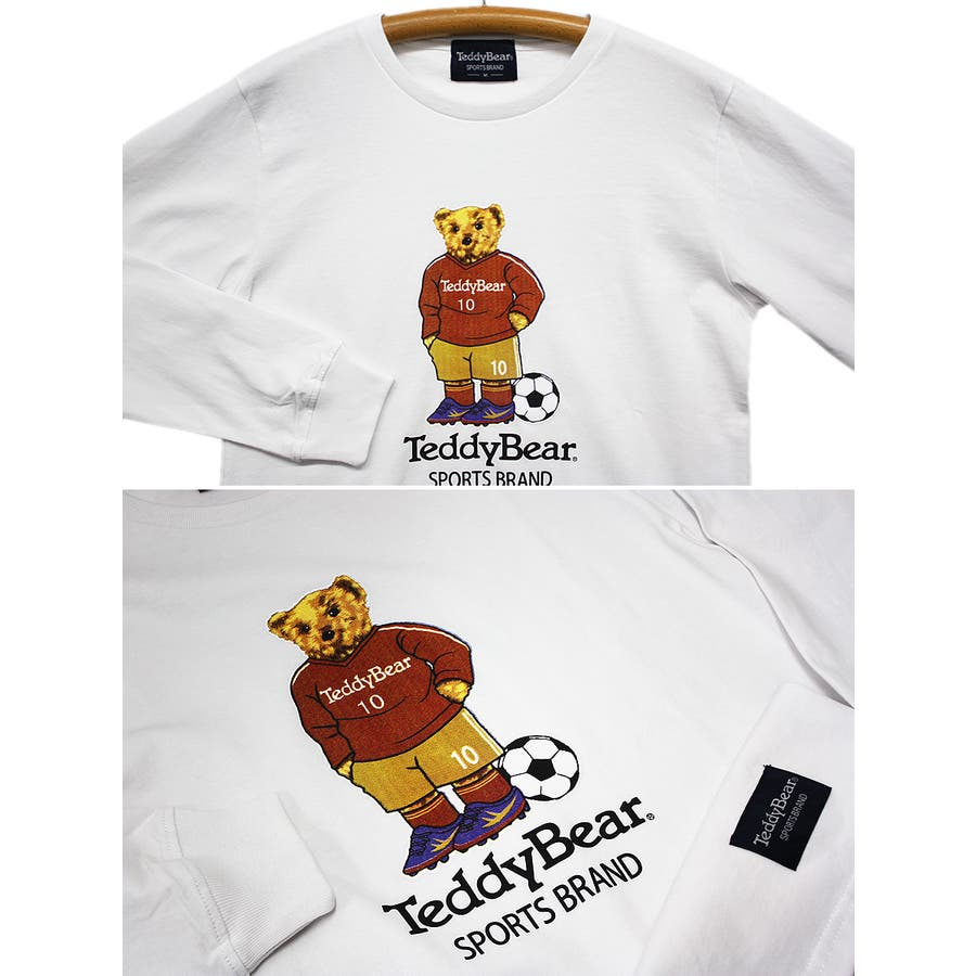 フットボール TEDDY BEAR USA テディベア コットン ロングスリーブT シャツ ロンT レディース OK 6