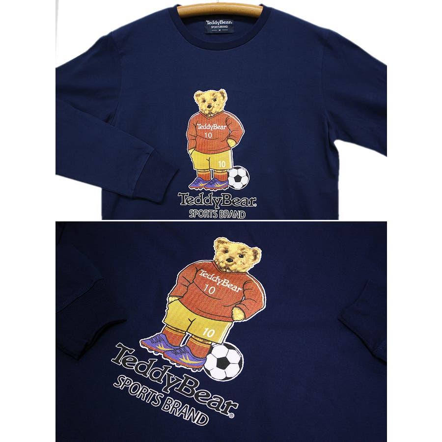 フットボール TEDDY BEAR USA テディベア コットン ロングスリーブT シャツ ロンT レディース OK 7