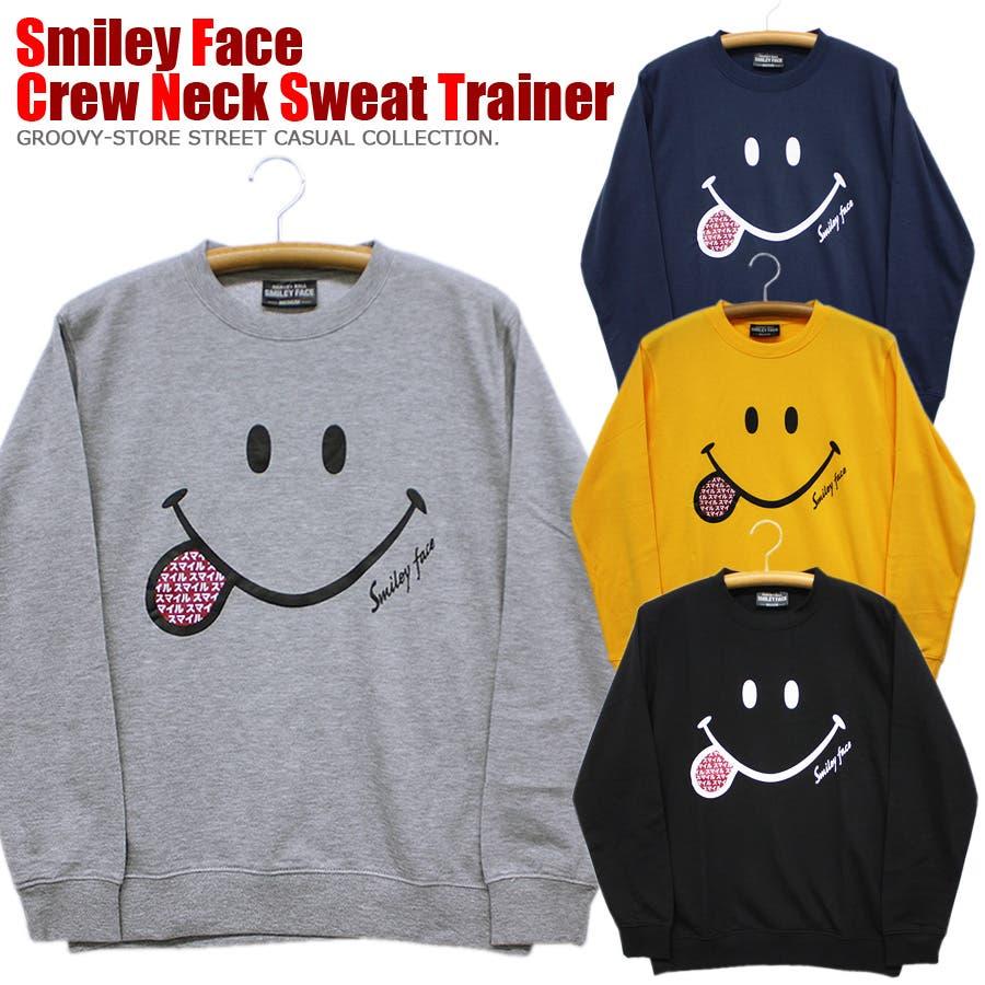 SMILEY FACE スマイル ストリート スウェット トレーナー レディース OK 1