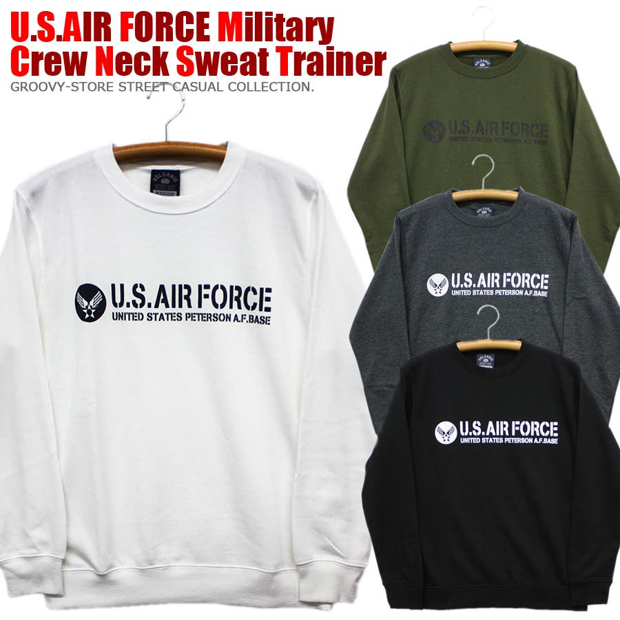 U.S.AIR.FORCE ミリタリー クルーネック スウェット トレーナー レディース OK 1