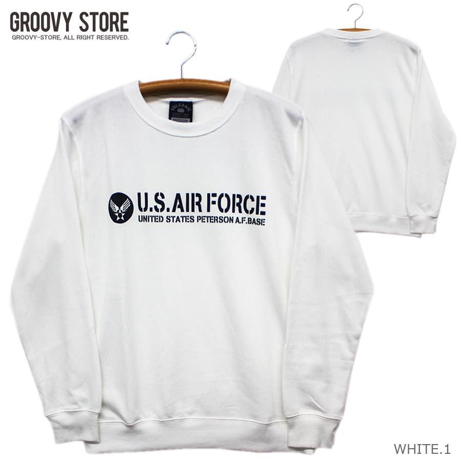 U.S.AIR.FORCE ミリタリー クルーネック スウェット トレーナー レディース OK 2