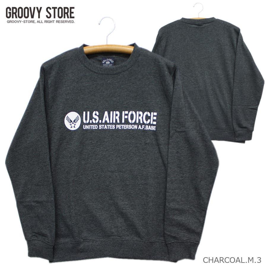 U.S.AIR.FORCE ミリタリー クルーネック スウェット トレーナー レディース OK 4