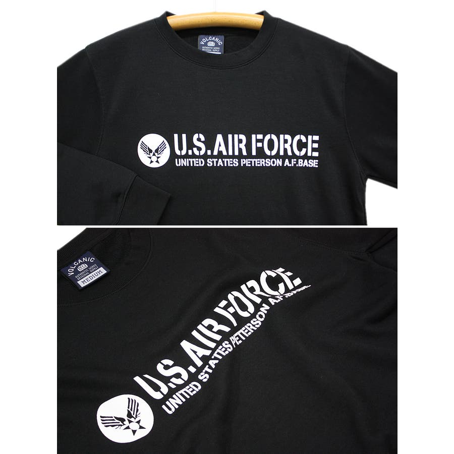 U.S.AIR.FORCE ミリタリー クルーネック スウェット トレーナー レディース OK 7