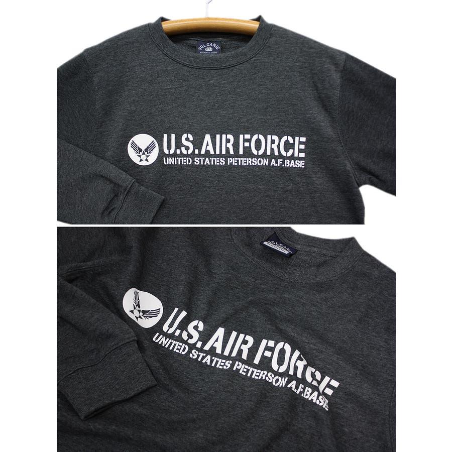 U.S.AIR.FORCE ミリタリー クルーネック スウェット トレーナー レディース OK 8