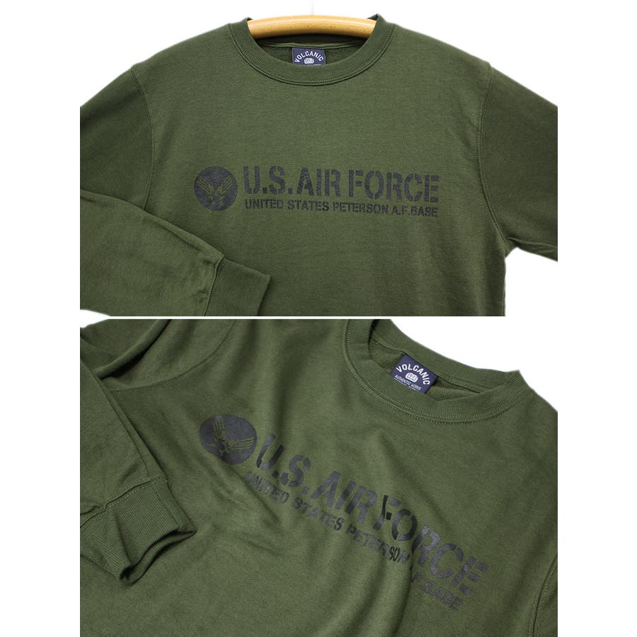 U.S.AIR.FORCE ミリタリー クルーネック スウェット トレーナー レディース OK 9