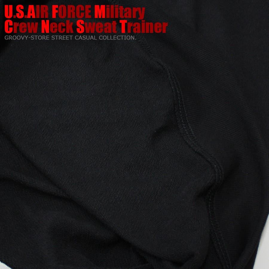 U.S.AIR.FORCE ミリタリー クルーネック スウェット トレーナー レディース OK 10