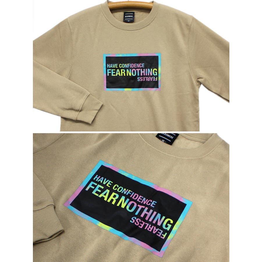 Fear Nothing Rainbow ボックス ロゴ 裏起毛 ストリート クルーネック スウェット トレーナー レディース OK 9