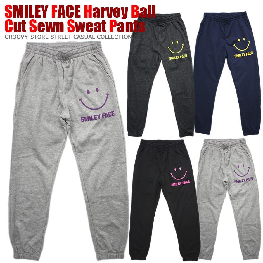 SMILEY FACE スマイル ストリート スウェット パンツ レディース OK 1
