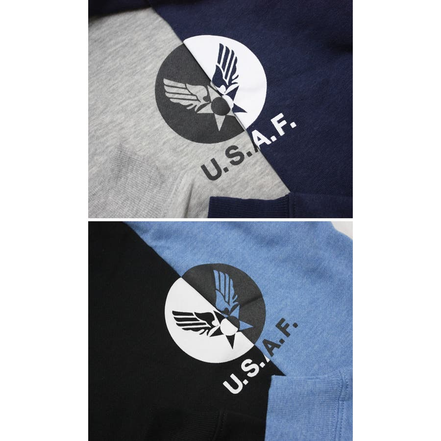 U.S.AIR.FORCE裏起毛クルーネックスウェットトレーナー メンズファッション 通販 デニム 裏起毛 ミリタリー スウェットトレーナー 6
