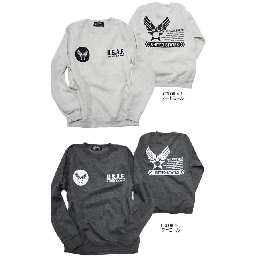 U.S.AIR.FORCE裏起毛クルーネックスウェットトレーナー メンズファッション 通販 デニム 裏起毛 ミリタリー スウェットトレーナー 2