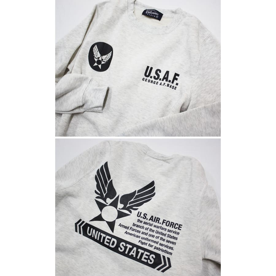 U.S.AIR.FORCE裏起毛クルーネックスウェットトレーナー メンズファッション 通販 デニム 裏起毛 ミリタリー スウェットトレーナー 4