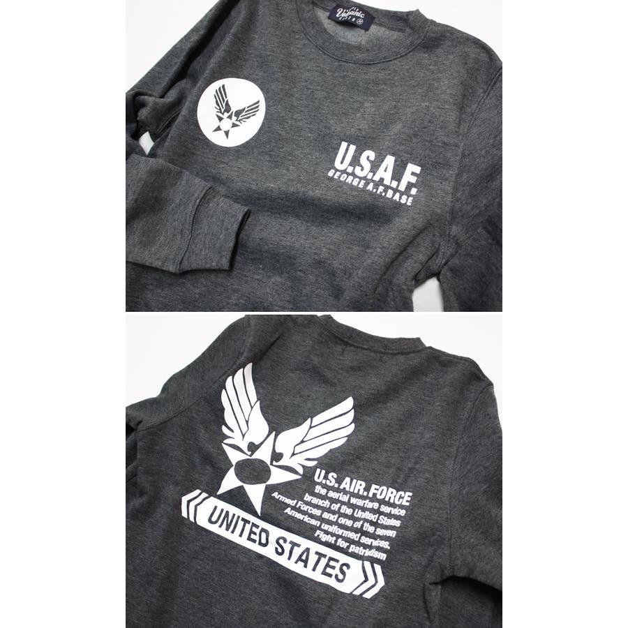 U.S.AIR.FORCE裏起毛クルーネックスウェットトレーナー メンズファッション 通販 デニム 裏起毛 ミリタリー スウェットトレーナー 5