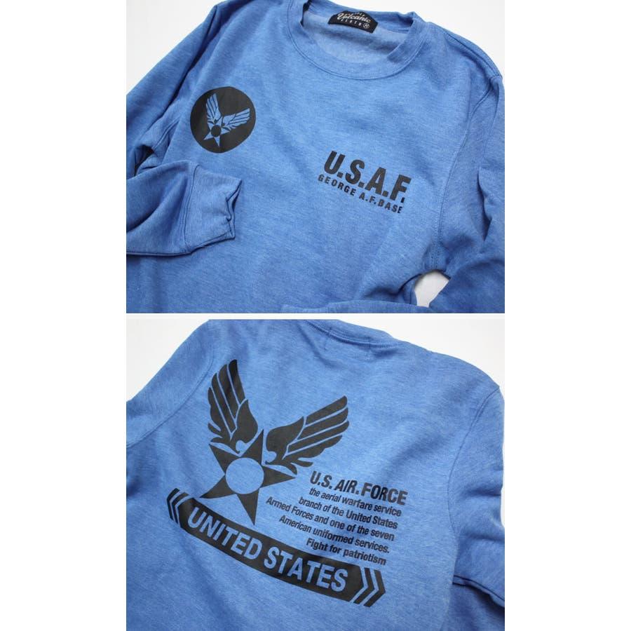 U.S.AIR.FORCE裏起毛クルーネックスウェットトレーナー メンズファッション 通販 デニム 裏起毛 ミリタリー スウェットトレーナー 7