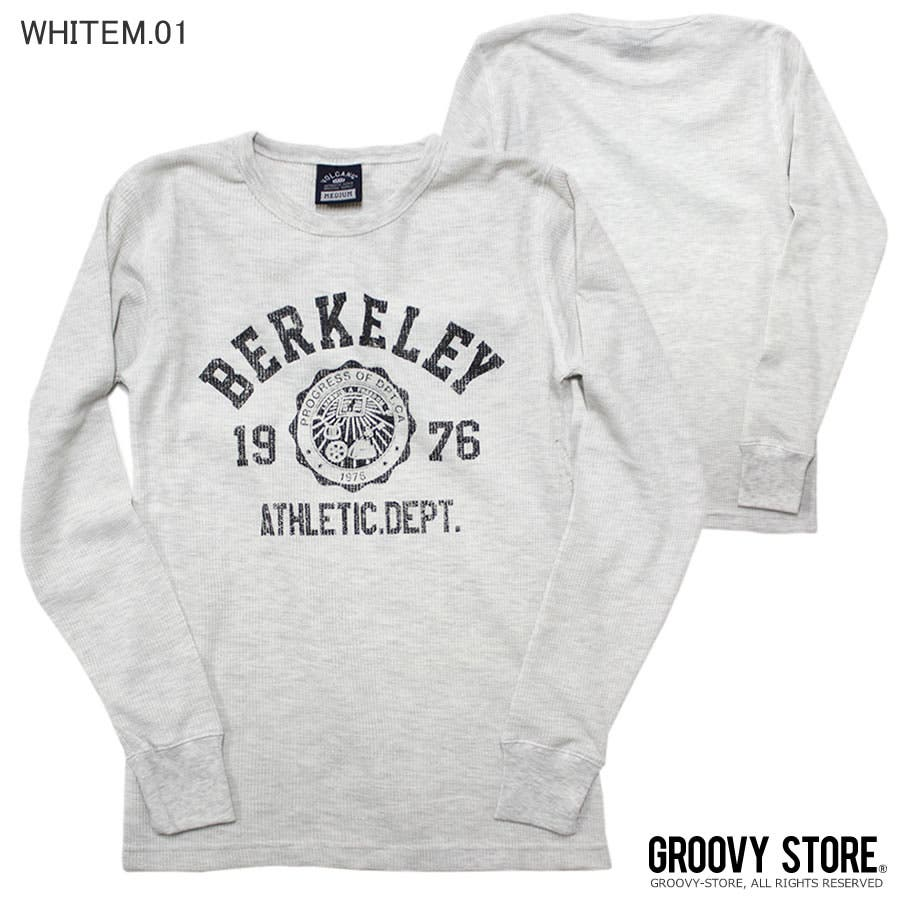 ロンT BERKELEY ATHLETIC DEPT ワッフル ロングスリーブ Tシャツ 45