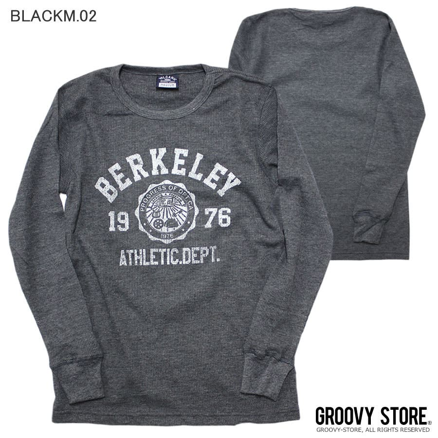 ロンT BERKELEY ATHLETIC DEPT ワッフル ロングスリーブ Tシャツ 26