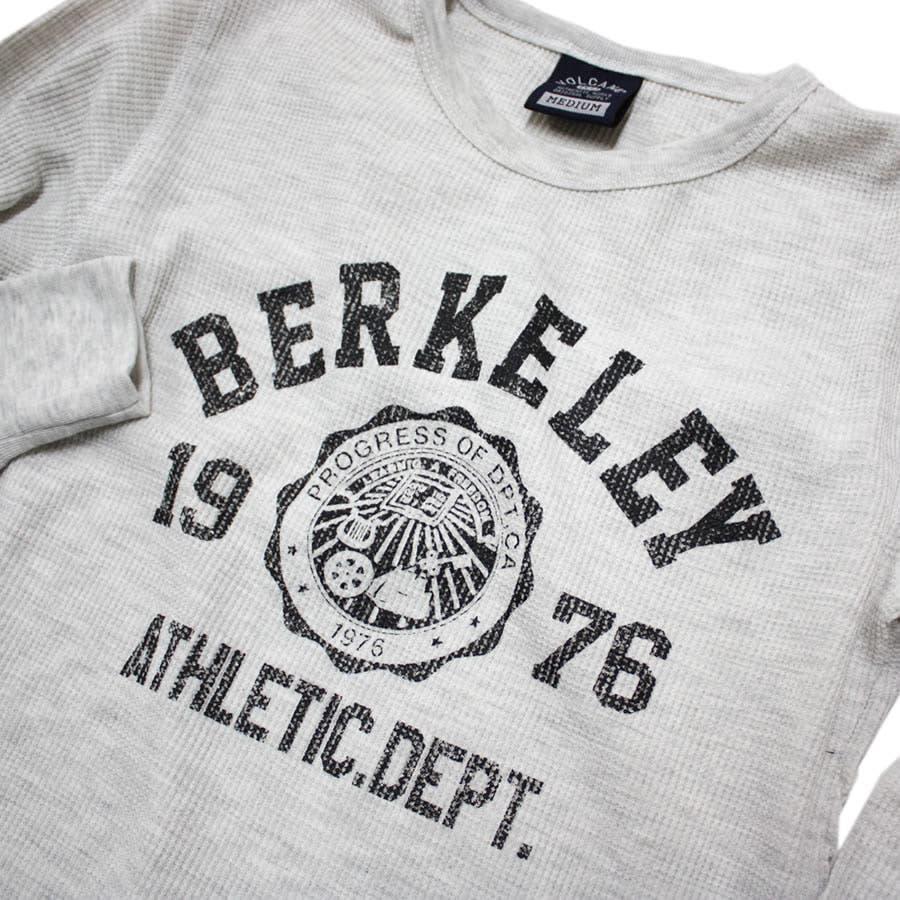 ロンT BERKELEY ATHLETIC DEPT ワッフル ロングスリーブ Tシャツ 6