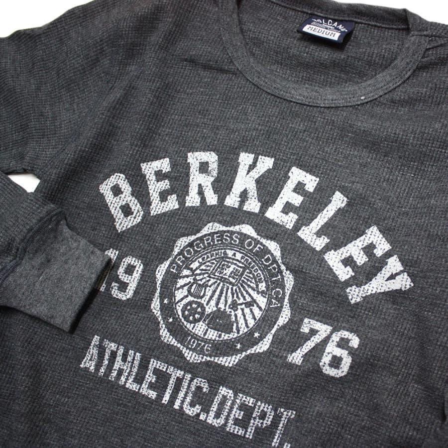 ロンT BERKELEY ATHLETIC DEPT ワッフル ロングスリーブ Tシャツ 7