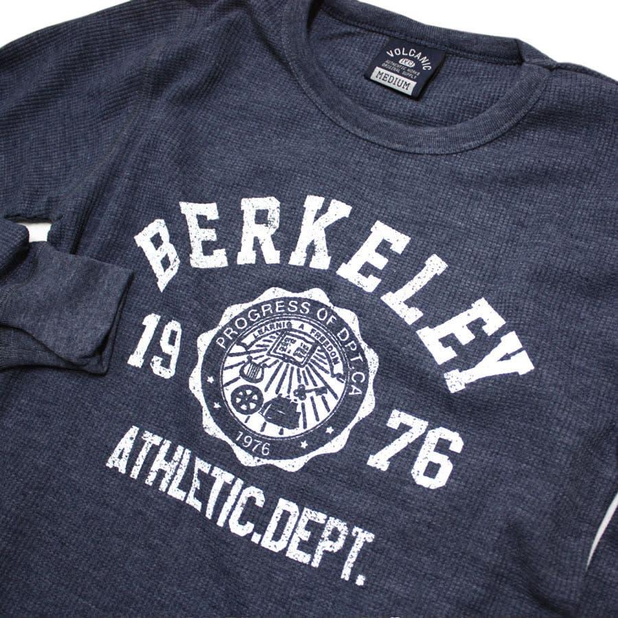 ロンT BERKELEY ATHLETIC DEPT ワッフル ロングスリーブ Tシャツ 8