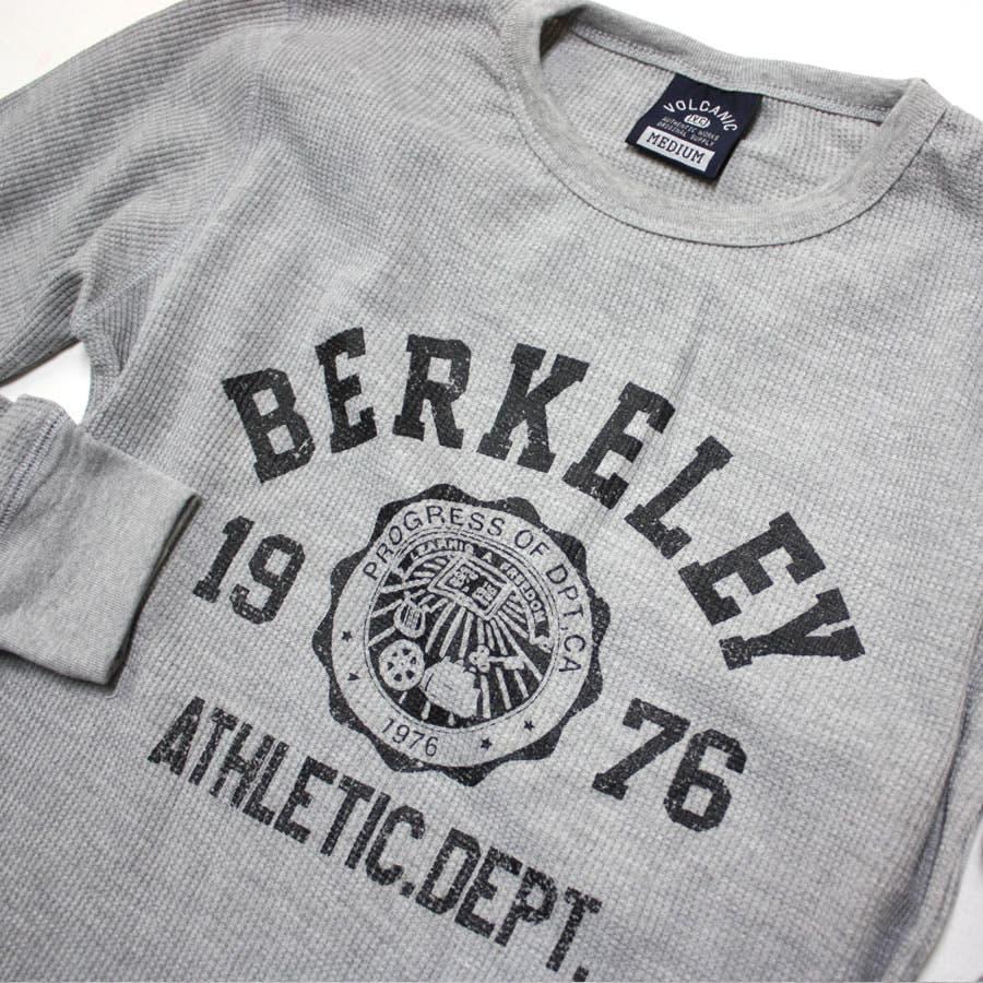ロンT BERKELEY ATHLETIC DEPT ワッフル ロングスリーブ Tシャツ 9