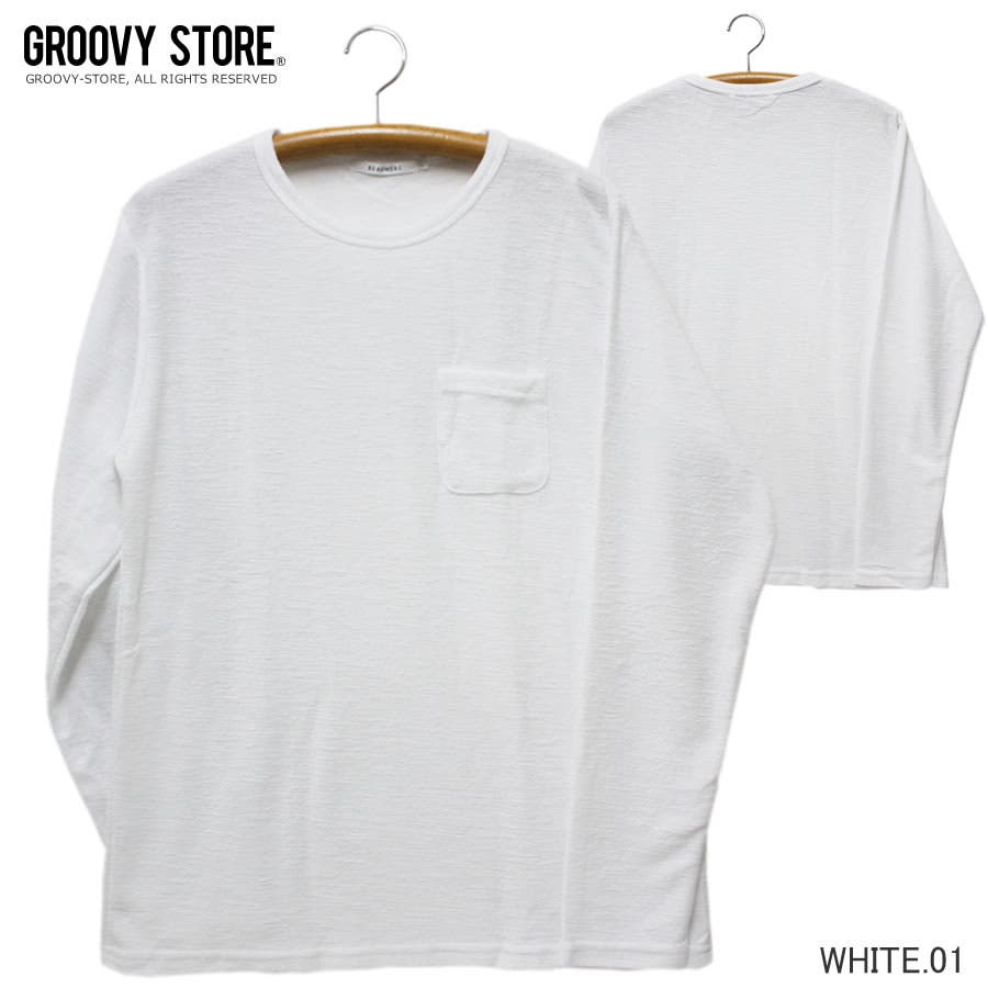 ロンT サテンフィニッシュ ポケット付き ロングスリーブ Tシャツ 16