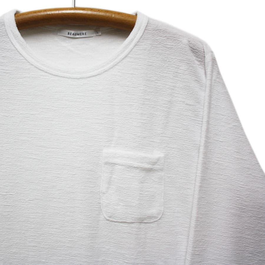 ロンT サテンフィニッシュ ポケット付き ロングスリーブ Tシャツ 5