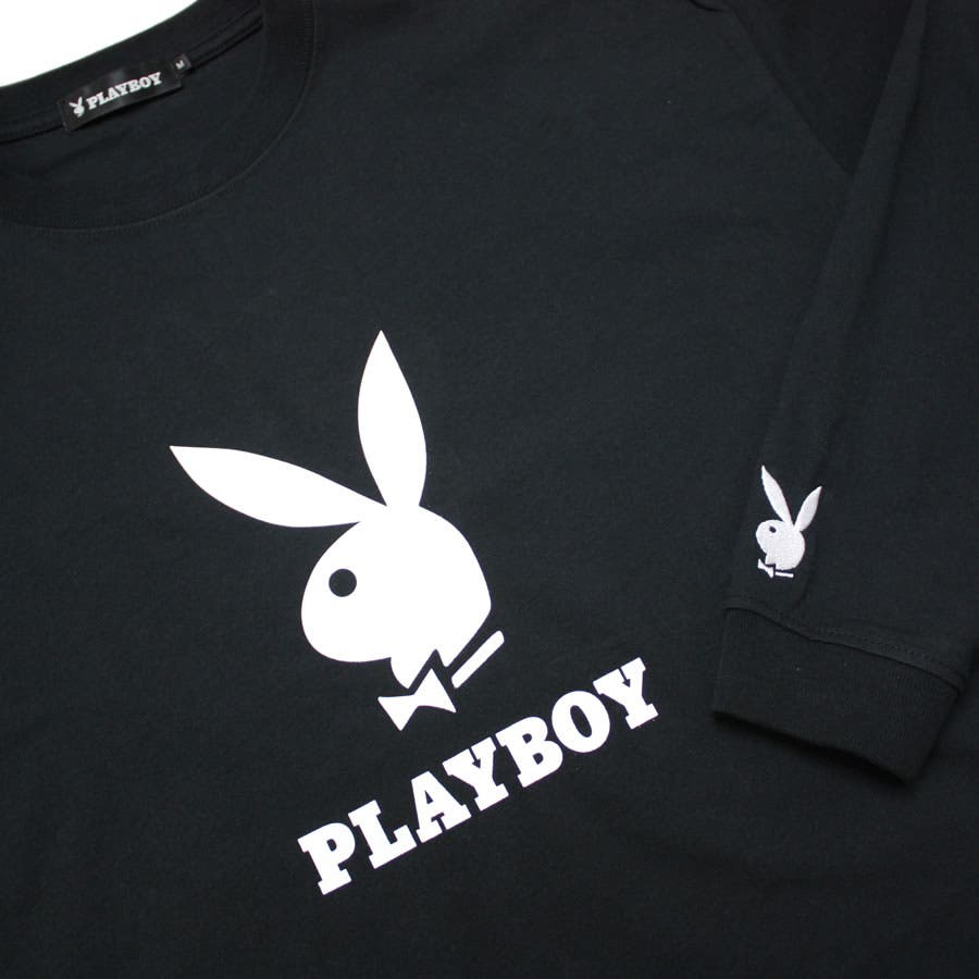 ロンT PLAYBOY 袖刺繍 BUNNY ワイド ビッグ シルエット ロングスリーブ Tシャツ 大きいサイズ レディースOK 5