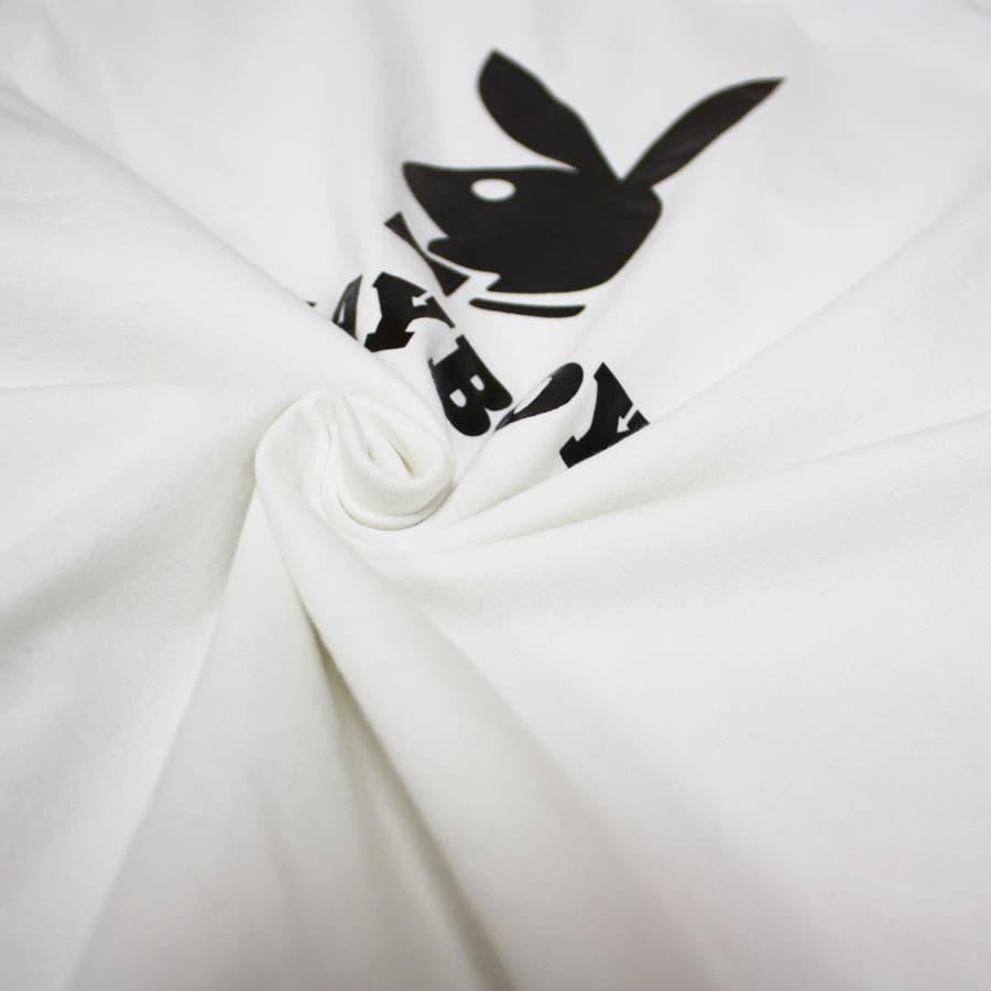 ロンT PLAYBOY 袖刺繍 BUNNY ワイド ビッグ シルエット ロングスリーブ Tシャツ 大きいサイズ レディースOK 7