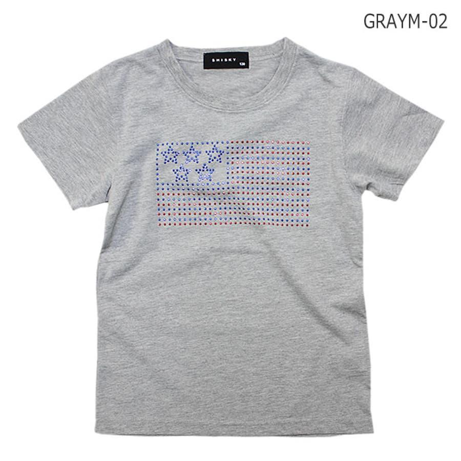 Tシャツ 星条旗 ラインストーン 半袖 Tシャツ 子供服 子ども服 キッズ 男の子 星条旗 ラインストーン 半袖 Tシャツ 28