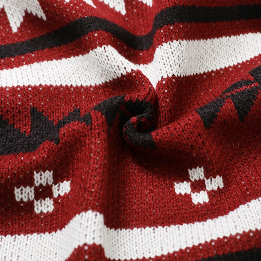 [アウター]ネイティブ柄フードニットガウン[180963][カーディガン ガウン ロング 羽織り フード付き ミディアム ネイティブオルテガ 長袖 大きいサイズ ゆったり L LL] 9