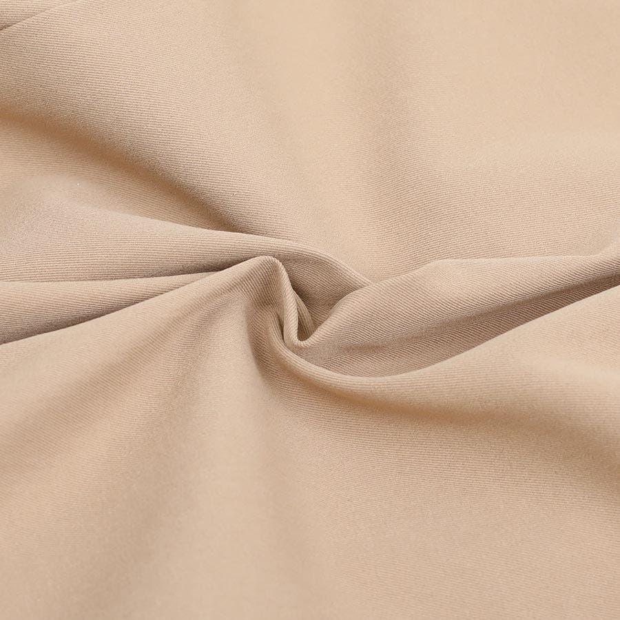 [ボトムス スカート]トレンチ風アシンメトリースカート[190103][フィッシュテール フレアー アシンメトリー 前後 長さ 違うトレンチ風 トレンチコート風 チェック 美脚 ロング 膝丈] 5