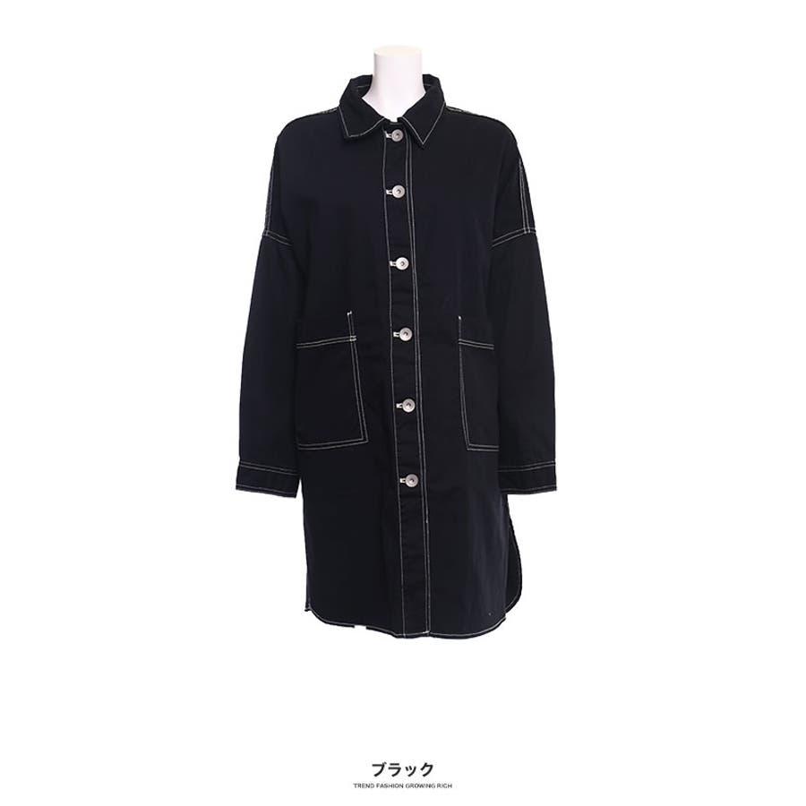 [トップス][レディース シャツ アウター 羽織り ビッグ オーバーサイズ オーバーシルエ ビッグサイズ 大きい ゆったり大きいサイズ LL XL 3L ダボダボ ブカブカ 無地 カジュアル メンズライク デカい おっきい 襟付きボタン]ツイルBIGシャツ[190655] 21