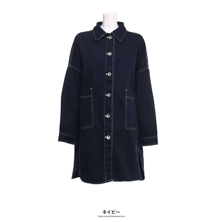 [トップス][レディース シャツ アウター 羽織り ビッグ オーバーサイズ オーバーシルエ ビッグサイズ 大きい ゆったり大きいサイズ LL XL 3L ダボダボ ブカブカ 無地 カジュアル メンズライク デカい おっきい 襟付きボタン]ツイルBIGシャツ[190655] 64
