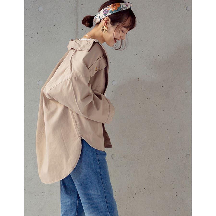 レディース シャツジャケット CPOジャケット シャツ ジャケット オーバーサイズ トップス ビッグサイズ BIG 大きいサイズ体型カバー ゆったり LL 3L 4L 春アウター ライトアウター /チノツイルCPOジャケット[200147] 3