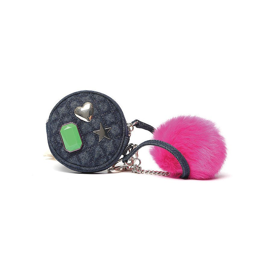 guess mix match pom pouch keychain 品番 guew0001168 guess women