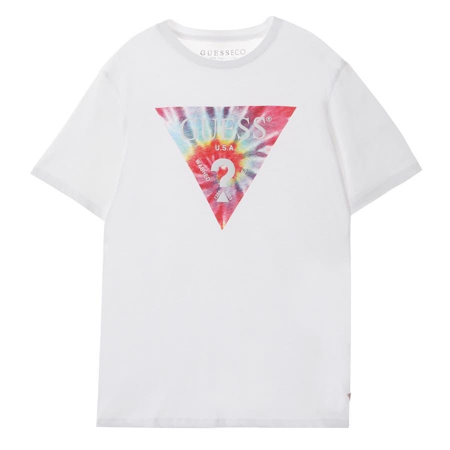 [GUESS] Tie-Dye Triangle Logo Tee 1