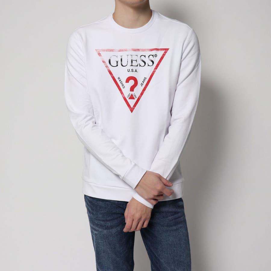 GUESS  TRIANGLE LOGO FLEECE SWEAT 品番:GUEW0001734  GUESS MEN ... 85251d990f0