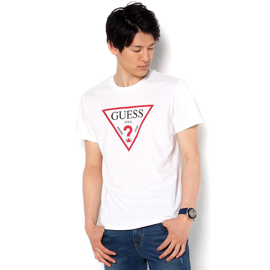 [GUESS] MEN'S S/S TRIANGLE LOGO TEE 1