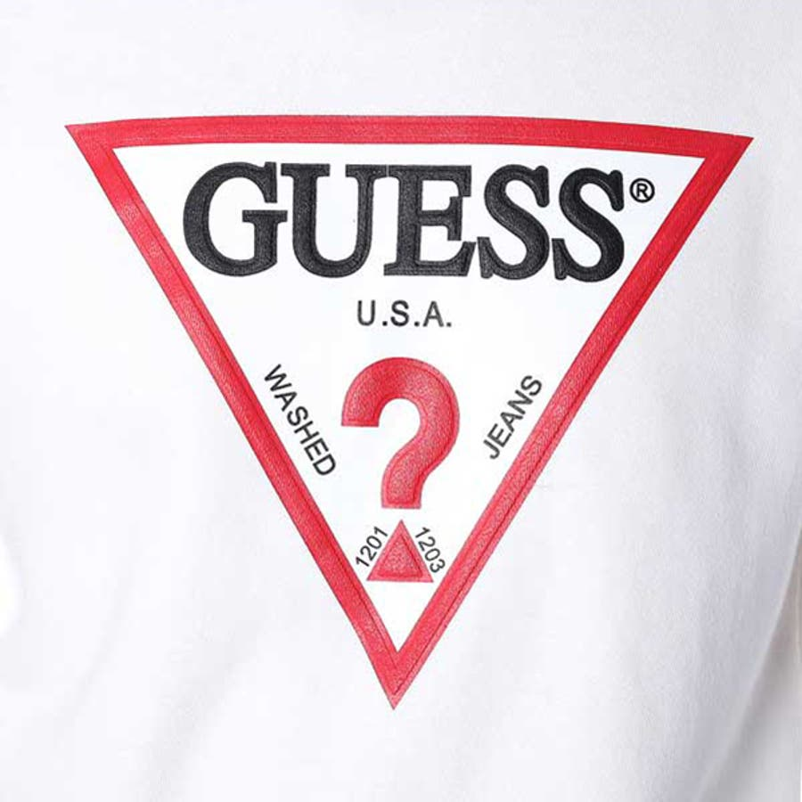 guess triangle logo ls crew sweat�����guew0001271��guess