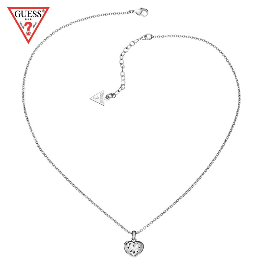Guess mini heart pendant necklace silverguew0000440 guess mini heart pendant necklace silver 1 mozeypictures Images