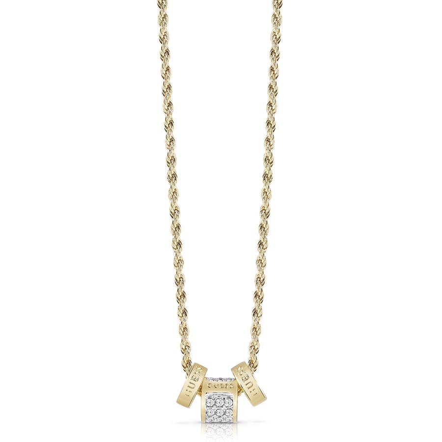 Guess g colors white diamond bead necklace goldguew0001404 guess g colors white diamond bead necklace gold 1 mozeypictures Gallery