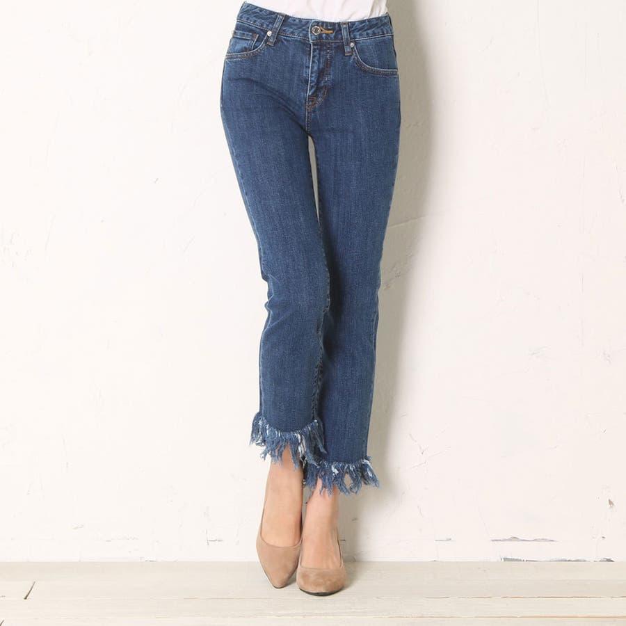guess slim straight cut off denim pants 品番 guew0000671 guess