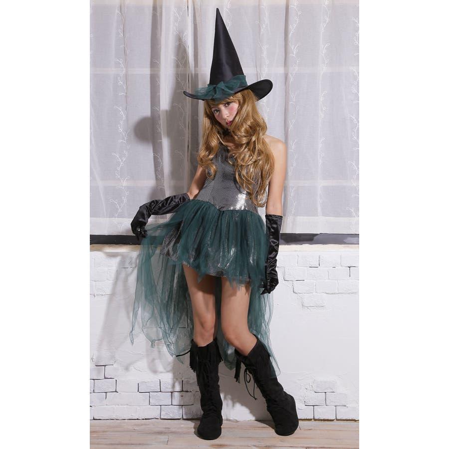 ハロウィン コスプレ ウィッチ 魔女 グリーン コスチューム 衣装 大きいサイズ 仮装 悪魔 仮装用 ハロウィーン ハロウインHALLOWEEN  2