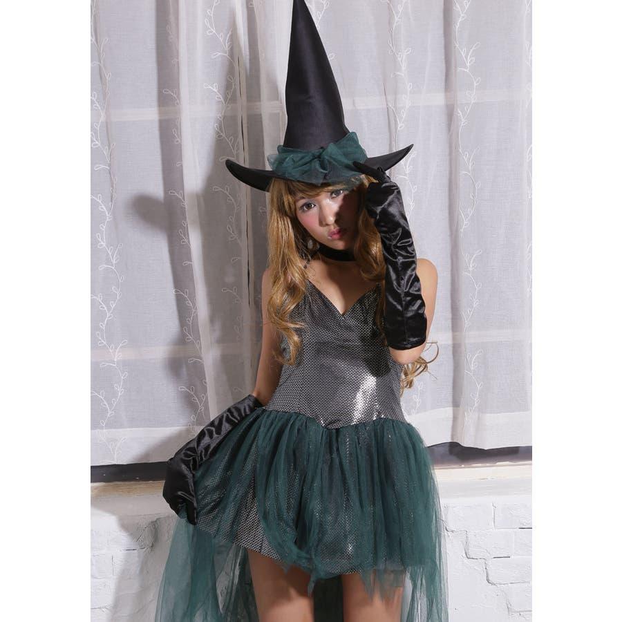ハロウィン コスプレ ウィッチ 魔女 グリーン コスチューム 衣装 大きいサイズ 仮装 悪魔 仮装用 ハロウィーン ハロウインHALLOWEEN  4