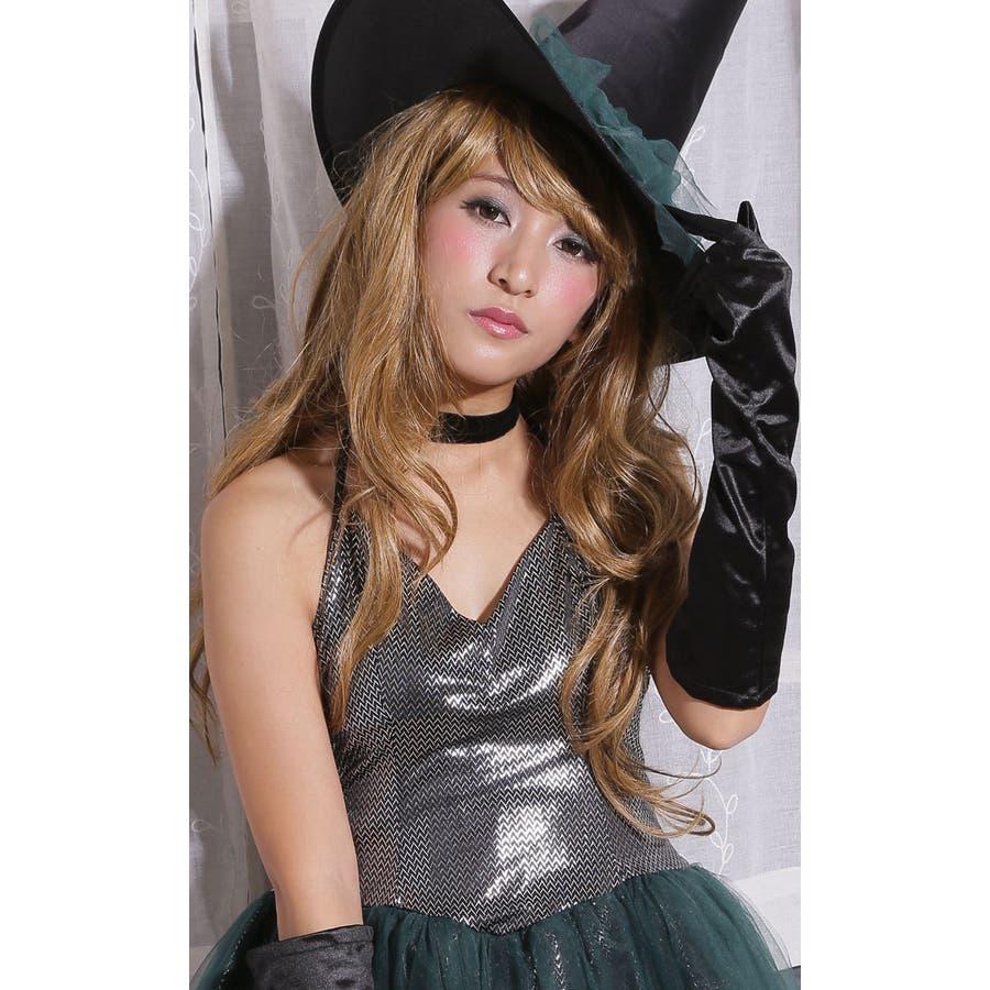 ハロウィン コスプレ ウィッチ 魔女 グリーン コスチューム 衣装 大きいサイズ 仮装 悪魔 仮装用 ハロウィーン ハロウインHALLOWEEN  5